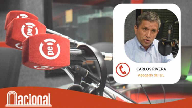 """Carlos Rivera: """"Acuerdo con Odebretch evidenciará a los destinatarios del dinero de la corrupción"""" (Radio Nacional)"""
