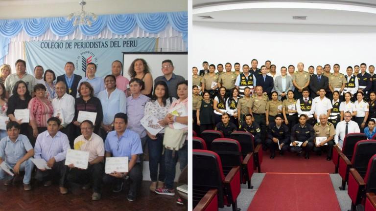 IDL realiza eventos de seguridad y periodismo en Chiclayo