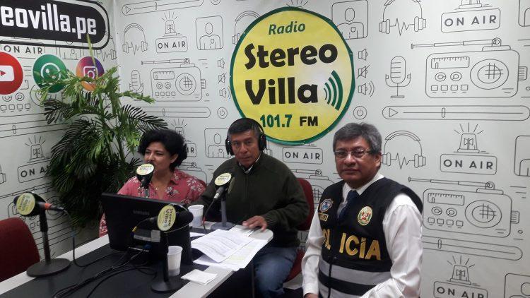Programa radial de Seguridad Ciudadana en radio de Villa El Salvador