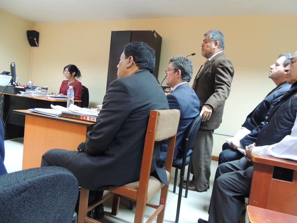Se realizó audiencia por proceso penal en contra de Juan Carlos Ruiz y Fernando Osores