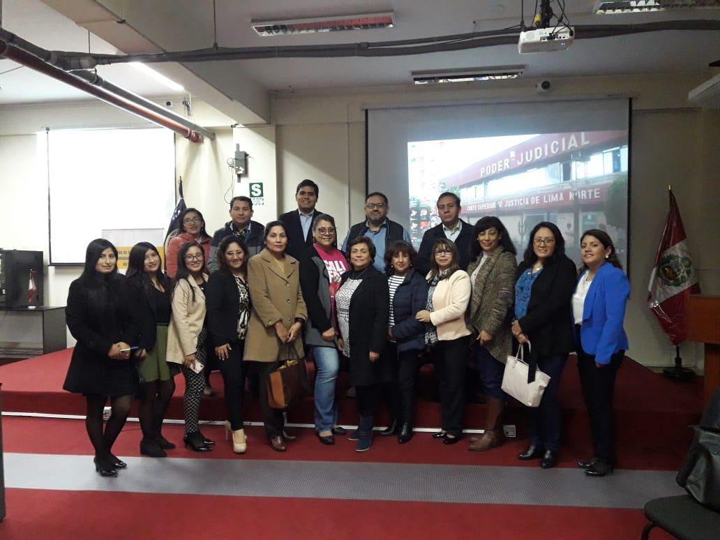 Justicia Viva cerró el ciclo de talleres en la Corte de Lima Norte