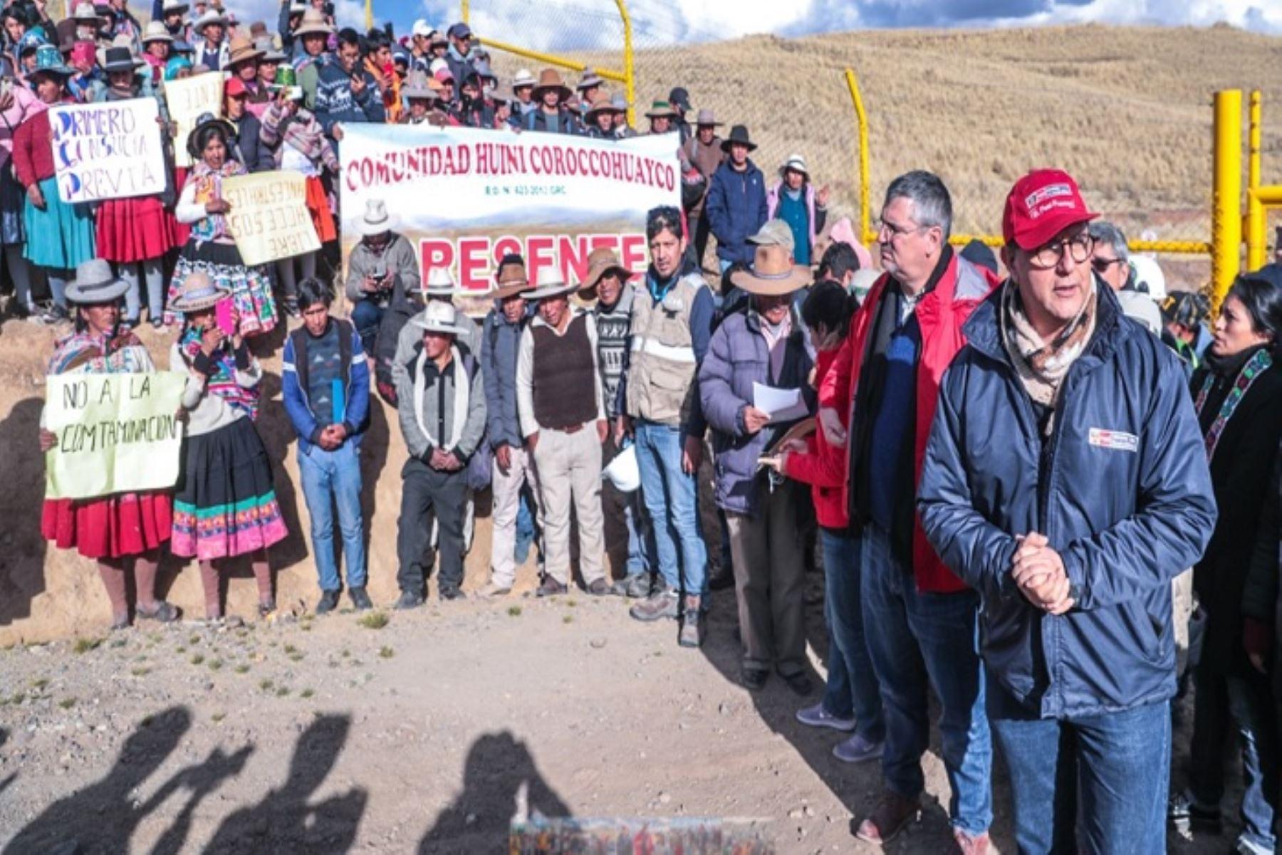 El Estado tiene una deuda grande con las comunidades de Espinar