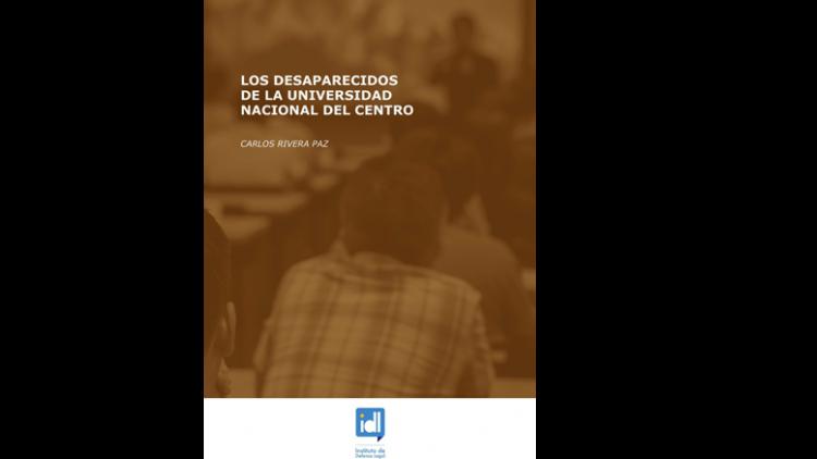 """Publicación: """"Los desaparecidos de la Universidad Nacional del Centro"""""""