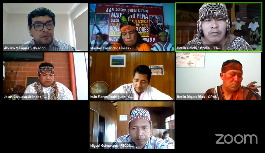 Líderes indígenas amazónicos expusieron casos de asesinatos ante la CIDH