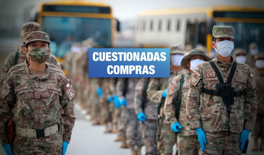 Ejército adquirió uniformes por más de S/ 45 millones sin concurso público