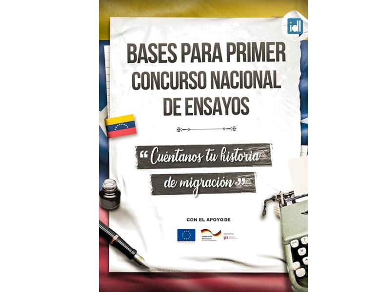 """Primer Concurso Nacional De Ensayo: """"Cuéntanos tu historia de migración"""""""