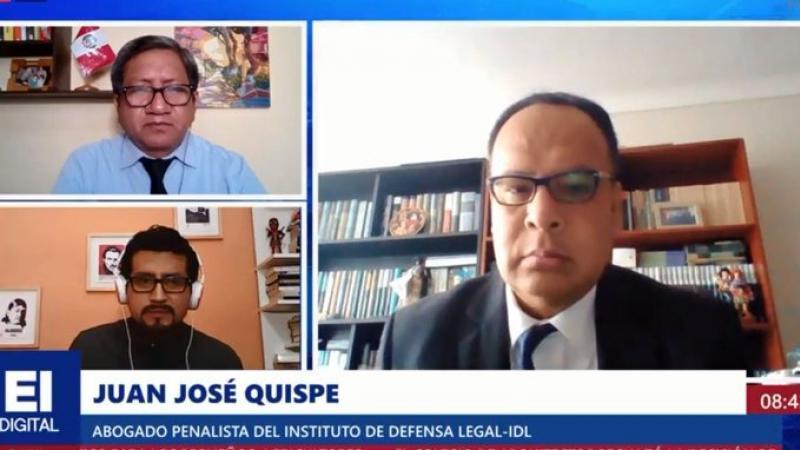"""Juan José Quispe: """"Hoy le podrían dar arresto domiciliario al expresidente Vizcarra"""""""
