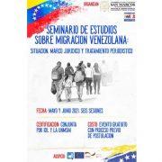 """Se abre postulación para el """"Seminario de estudios sobre migración venezolana"""""""