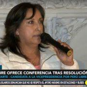 Dina Boluarte: El JNE, a través de sus miembros, no puede estar manoseando la voluntad del pueblo