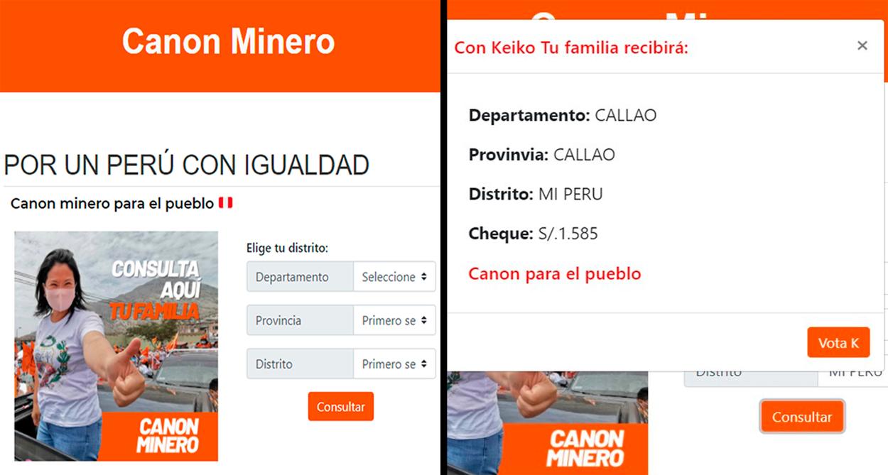 Ciudadanos denuncian a Keiko Fujimori por presunta compra de votos a cambio del canon
