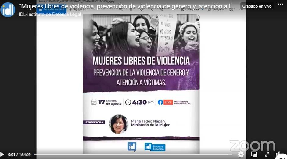 Prevención de la violencia de género y atención a las víctimas