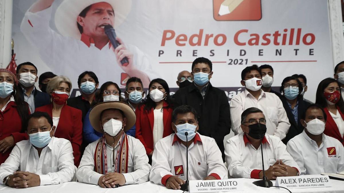 Congreso: ¿Qué pasa en la bancada del partido Perú Libre?